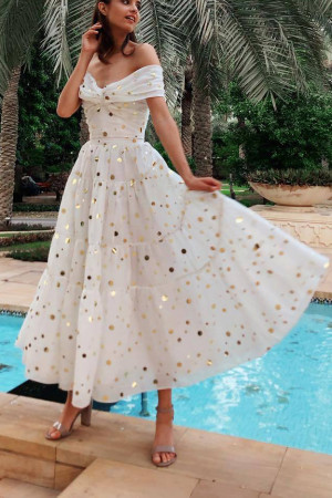 Glitter Sparkly Wrap Dress