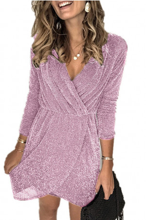 Long Sleeves V-Neck Dress