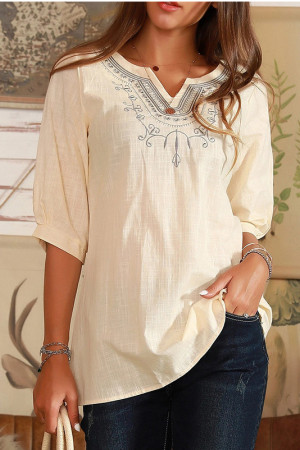 Casual Embroidery T-shirt