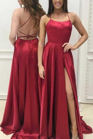 Sexy Thigh-high Slit Backless Dress