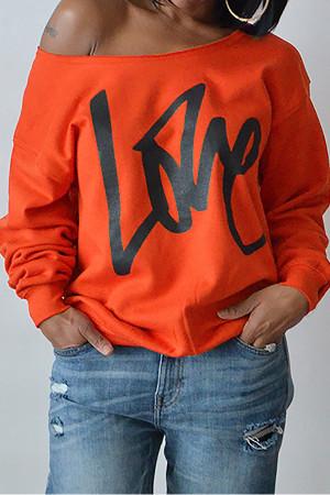 Print Letter Active Sweatshirt