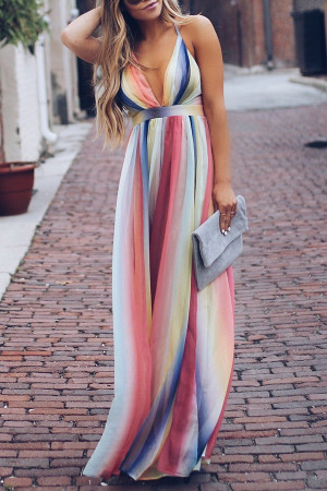 V-neck Open Back Wrap Dress