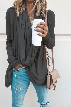 Asymmetrical Pile Neck Sweater