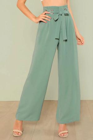 Belted Loose Wide Leg Pants