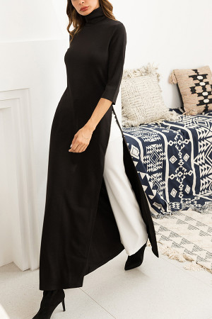 Black Plus Size Muslim Gown
