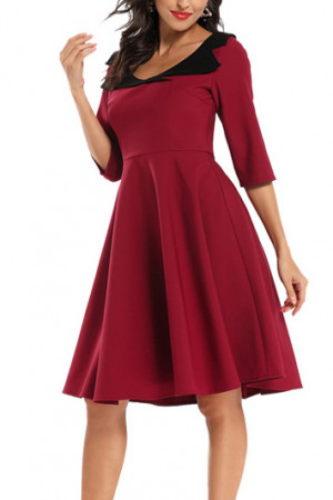 Scoop A-line Cocktail Dress