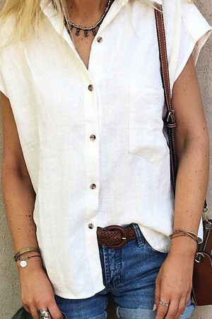 Casual Lapel Pocket Shirt