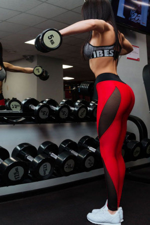Colorblock Pull On Gym Leggings