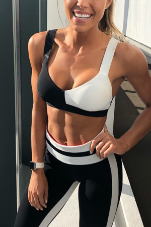 Colorblock Yoga Pull-on Two Pieces