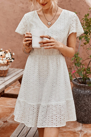 Cutout V-neck Summer Dress