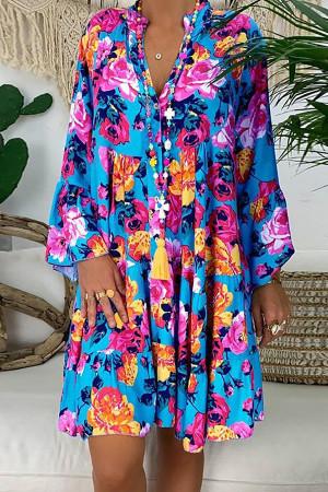 Boho Floral Swing Dress