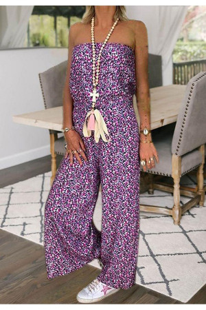 Floral Printed Zip Up Jumpsuit