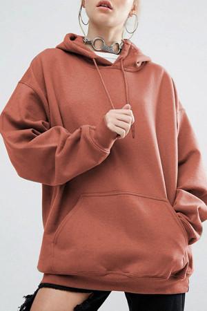 Kangaroo Pocket Drawstring Hoodie