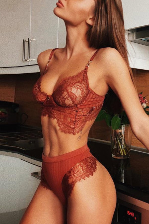 Lace Eyelash Lingerie Set