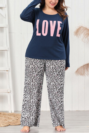 Letter & Leopard PJ Pants Set