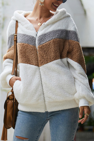 Loose Hooded Casual Coat