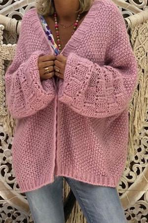 Loose Cutout Knit Cardigan