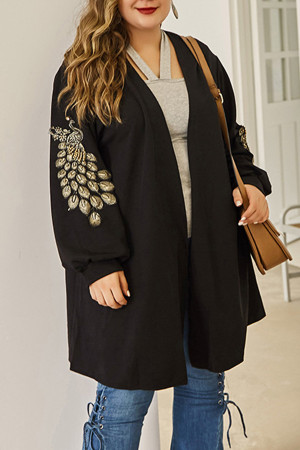 Plus Size Knit Cardigan