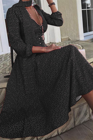 Polka Dot Long Sleeves Dress