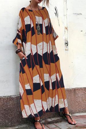 Print Scoop Tunic Dress