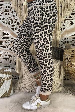 Printed Leopard Print Slacks