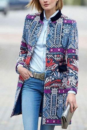 Printed Tunic Coat