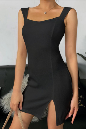 Ribbed Bodycon Short Dress