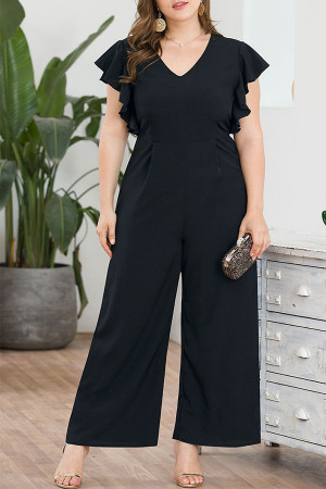 Ruffle Wide Leg Jumpsuits
