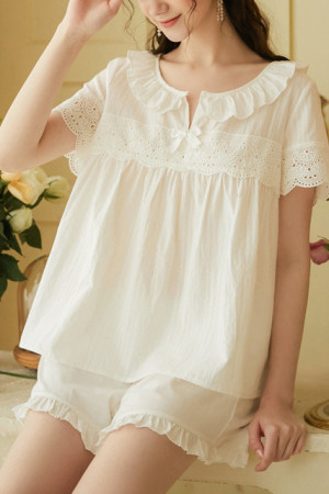 Ruffled PJ Short Set