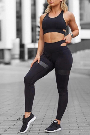 Scoop Yoga Fitted Two-piece Set