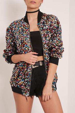Sequin Loose Jacket