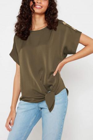 Shoulder Buttons T-shirt