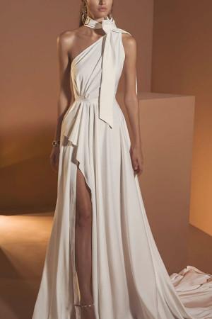 Sleeveless Halter Prom Dress