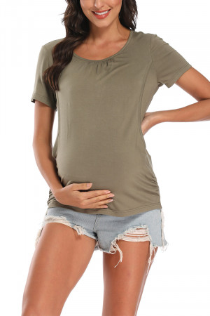 Maternity Scoop Nursing T-shirt