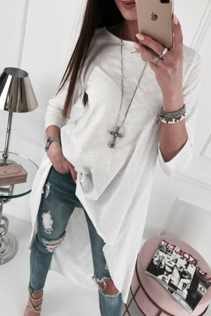 Solid Scoop High Low T-shirt