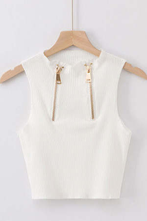 Solid Sleeveless Short Top