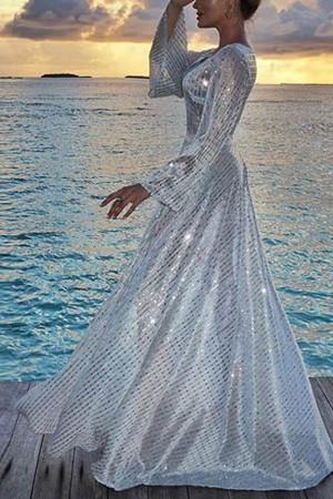 Sparkly V-Neck Maxi Dress