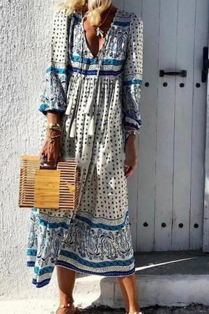 Tassel Polka Dot Dress