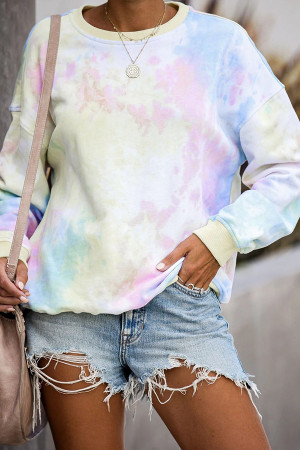 Tie-dye Pullover Sweatshirt