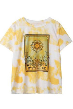 Tie Dye Scoop Tee Shirt