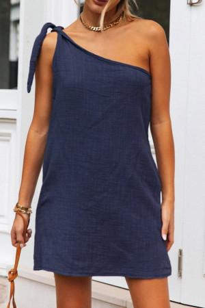 Tie Shoulder Short Dress