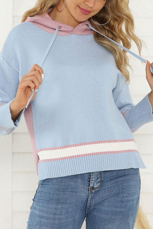 Two-Tone Knit Sweat-Shirt