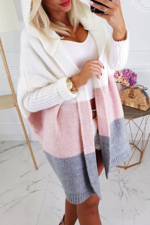 Two-tone Loose Cardigan