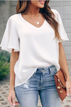 V-Neck Solid T-shirt