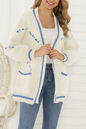 V-neck Tassel Sweater Cardigan