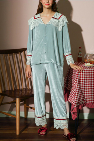 Velvet Pajama Pants Set