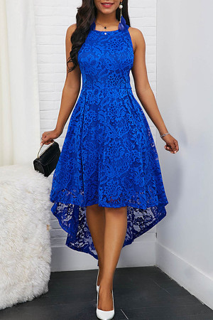 Lace High Low Scoop Tank Dress