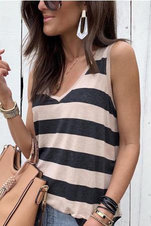 Striped Sleeveless Tank Top