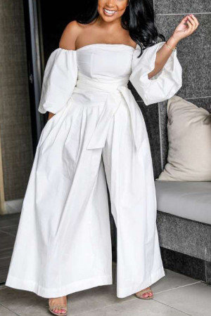 Off-the-shoulder Wide Leg Jumpsuit