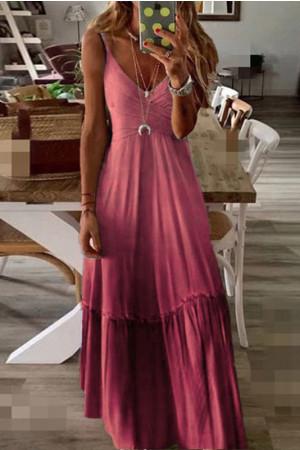 Loose V-Neck Cami Dress